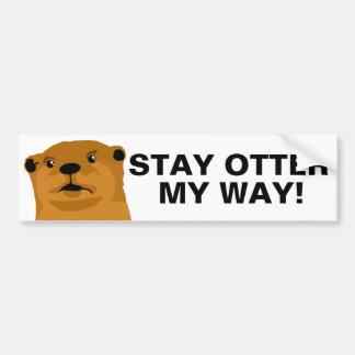 De Otter van het verblijf Mijn Manier Bumpersticker