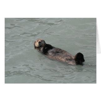 De Otter van het zee Wenskaart