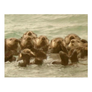 De Otters van het zee Briefkaart