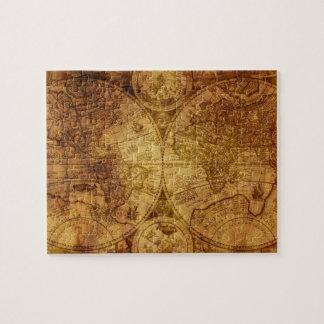 De oude Antiek Historische Kaart van de Wereld Puzzel