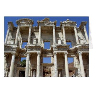 De oude Bibliotheek van Celsus - Ephesus, Turkije Kaart