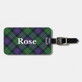 De oude Clan Scotsman nam Geruite Schotse wollen Kofferlabels