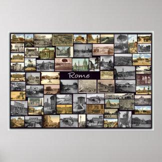 De oude Collage van Rome Poster
