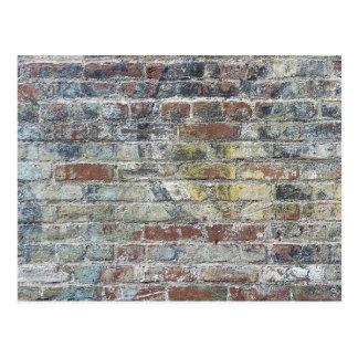 De oude Doorstane Textuur van de Bakstenen muur Briefkaart
