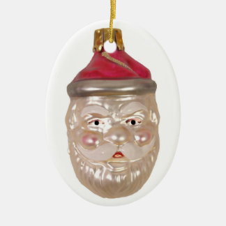 De oude Duitse Kerstman Keramisch Ovaal Ornament