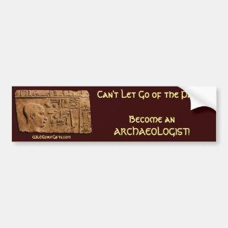 De oude Egyptische Hulp van de Kunst op Papyrus Bumpersticker
