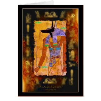 De oude Egyptische Waaier van de Gift van Anubis Kaart