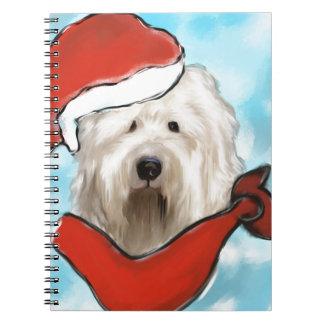 De oude Engelse Hond van Schapen Notitieboek