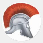 De oude Griekse Helm van de Strijder Stickers