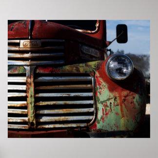 De oude Grill van de Vrachtwagen Poster