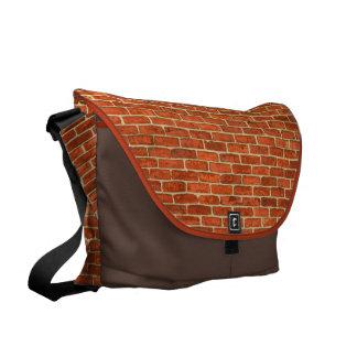 De oude Grungy Rode Oranje Structuur van de Courier Bag