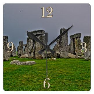 De Oude Historische Plaats van Stonehenge van Vierkante Klok