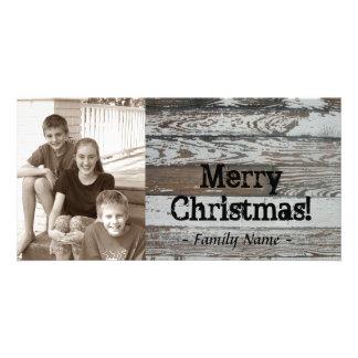 De oude Houten Kerstkaart van de Foto Kaart
