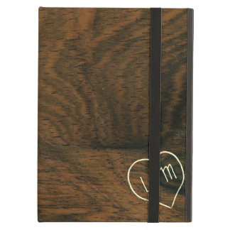 De oude Houten Textuur van Faux van het Mahonie me iPad Air Hoesje