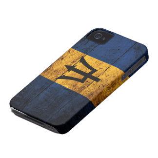 De oude Houten Vlag van Barbados iPhone 4 Hoesje