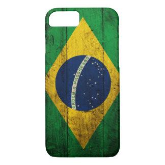 De oude Houten Vlag van Brazilië iPhone 7 Hoesje