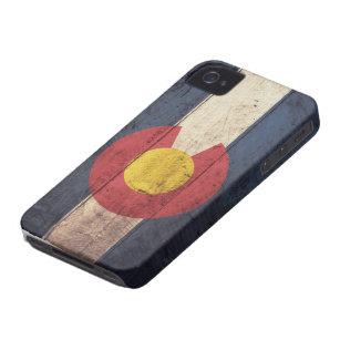 De oude Houten Vlag van Colorado iPhone 4 Hoesje