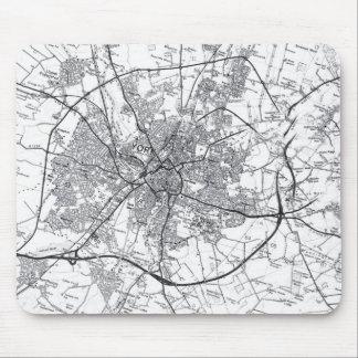De Oude Kaart Mousepad van de Stad van York Muismatten