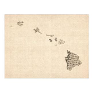De oude Kaart van de Muziek van het Blad van Hawaï