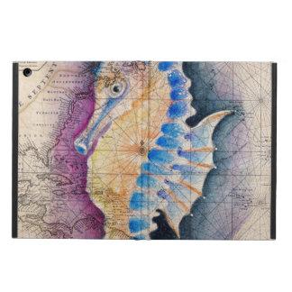 De oude kaart van Seahorse iPad Air Hoesje