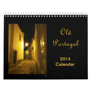 De oude Kalender 2014 van Portugal
