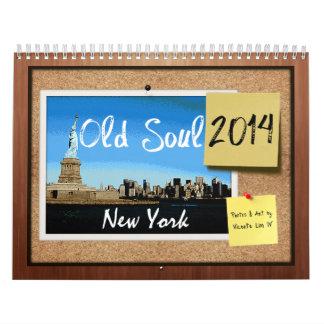 De oude Kalender van New York van de Ziel 2014