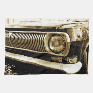 De oude Klassieke Koplamp van de Auto #2 Theedoek