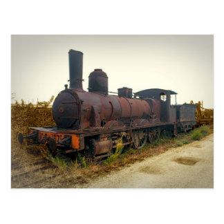 De oude Locomotief van de Stoom in Portugal Briefkaart