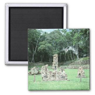 De oude Mayan Foto van Copan N.W. Honduras van Magneet
