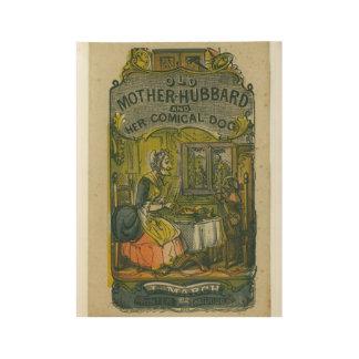 de Oude moeder Komische Hubbard en haar van het Houten Poster