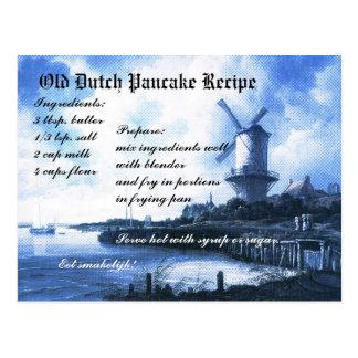 De oude Nederlandse Kaart van het Recept van de Briefkaart