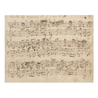De oude Nota's van de Muziek - het Blad van de Briefkaart