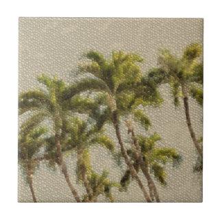 De oude Palmen van het Mozaïek Tegeltje