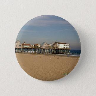 De oude Pijler van het Strand van de Boomgaard Ronde Button 5,7 Cm