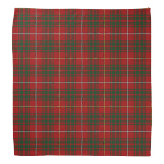De oude Plaid van het Geruite Schotse wollen stof Bandana