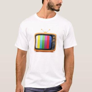 De oude Retro T-shirt van de Televisie