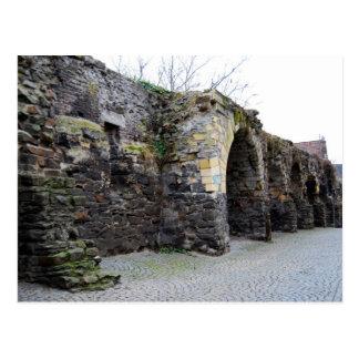 De oude Roman Muur van de Stad Briefkaart