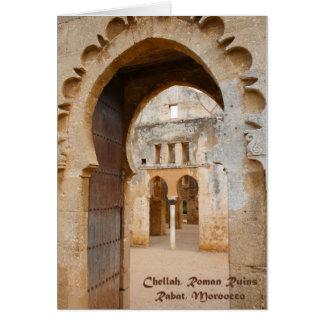 De Oude Ruïnes van Chellah, Marokko Briefkaarten 0