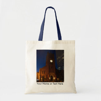 De oude St. Mary Kathedraal past Canvas tas w/Name