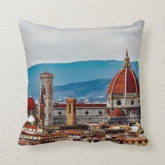 De oude stad van Florence, de horizon van Italië Sierkussen