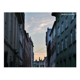 De Oude Stad van Krakau, met de Tekst van de Stad Briefkaart
