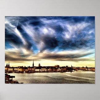 De Oude Stad van Stockholm Poster