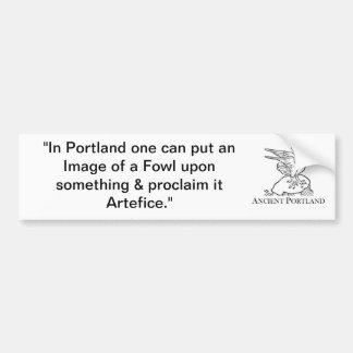 De oude Sticker van de Bumper van Portland