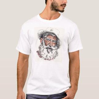 De oude T-shirt van het Man