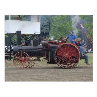 De oude Tractor van de Motor van de Stoom/van de Briefkaart
