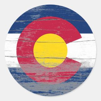 De Oude Verf van Colorado Ronde Stickers