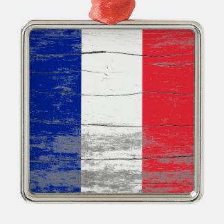De Oude Verf van Frankrijk Zilverkleurig Vierkant Ornament