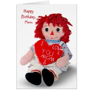 De oude Verjaardag van Doll van het Vod Kaart