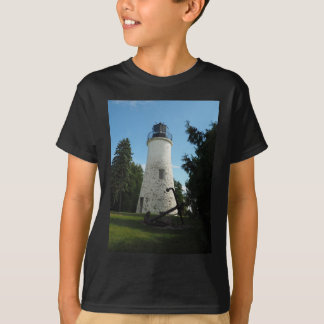 De oude Vuurtoren van het Eiland Presque T Shirt
