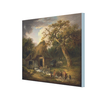 De oude Watermolen door George Morland Canvas Print